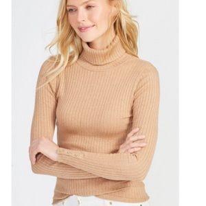 J.McLaughlin Tan Beige Turtle Neck Sweater Top